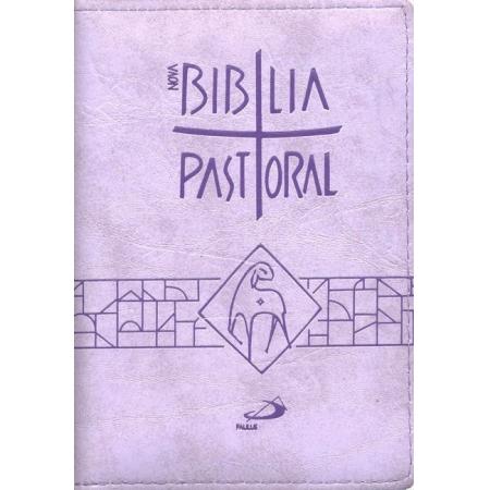 Biblia Sagrada Nova Ed. Pastoral Media Ziper Lilas