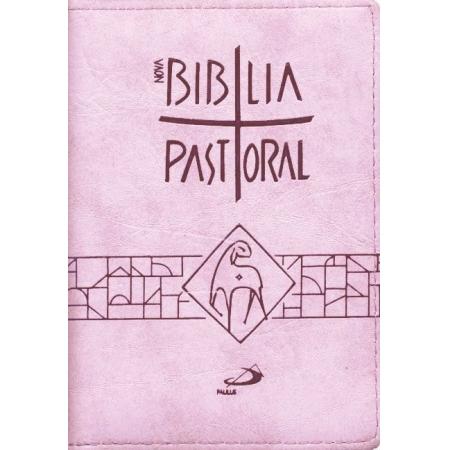 Biblia Sagrada Nova Ed. Pastoral Media Ziper Rosa