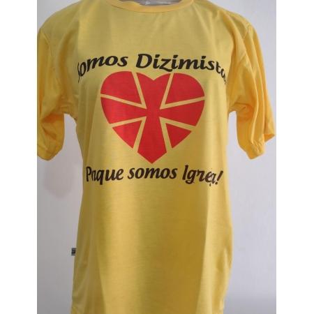 CA33 - Camiseta Poliester Amarela Dizimo F/C