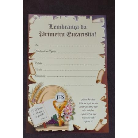 Certificado Primeira Eucaristia - LB-009
