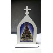 CT16 - Capela Madeira 10cm Nossa Senhora Aparecida