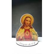 CT19 - Busto Sagrado Coração de Jesus 10cm Madeira