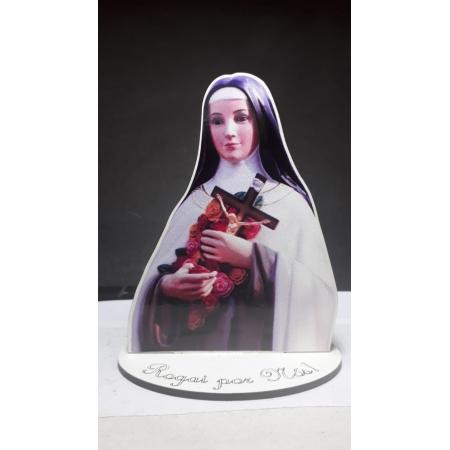 CT26 - Busto MDF Santa Teresinha do Menino Jesus 11cm Madeira