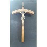 CX107 - Crucifixo Madeira 33cm João Paulo II Parede
