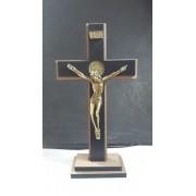 CX11 - Crucifixo Madeira MDF Cruz São Bento 17cm