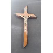 CX36 - Crucifixo Madeira Contorno 30cm c/ Ponta Parede