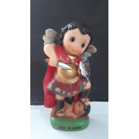 IC122 - São Miguel Arcanjo 13cm Criança Resina