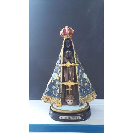 ID24 - Nossa Senhora Aparecida 22cm Bandeira Resina