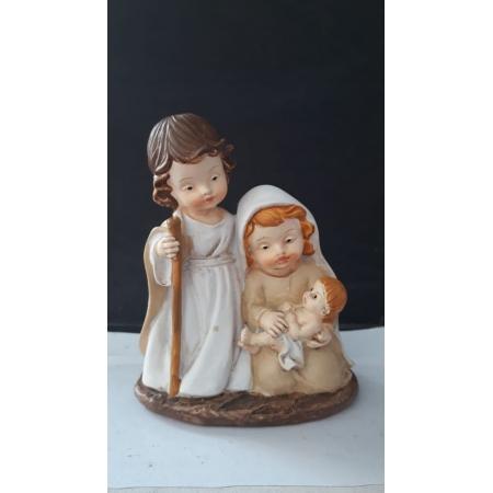 IN57 - Presepio Sagrada Familia 10cm Criança