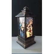 IN65 - Luminária Madonna Vitral Bronze 13cm c/ Luz