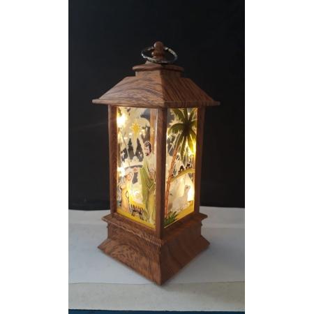 IN67 - Luminária Presepio Vitral Natural 13cm c/ Luz