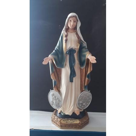 IS16 - Nossa Senhora das Graças c/ Medalha Milagrosa 30cm Florence Resina