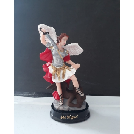 IV122 - São Miguel Arcanjo 12cm Resina
