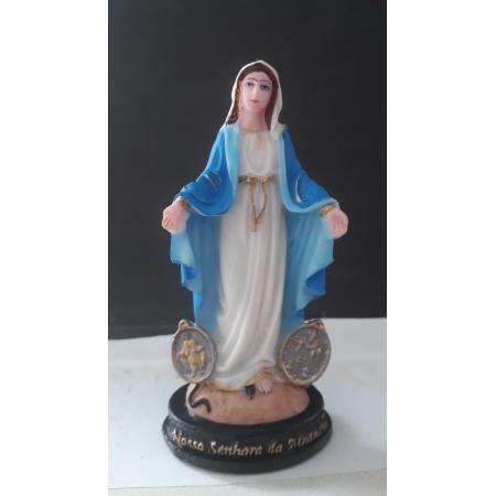 IV12 - Nossa Senhora das Graças Medalha Milagrosa 12cm Resina
