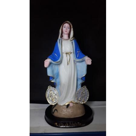 IV14 - Nossa Senhora das Graças Medalha Milagrosa 20cm Resina