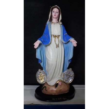 IV16 - Nossa Senhora das Graças Medalha Milagrosa 27cm Resina