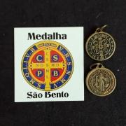 M45 - Medalha São Bento 19mm Niquel