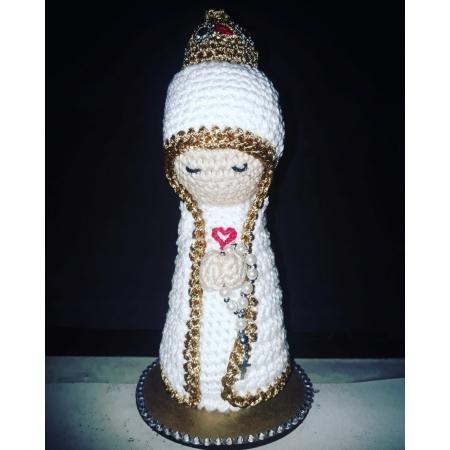 P173 - Nossa Senhora Fatima Crochê 19cm