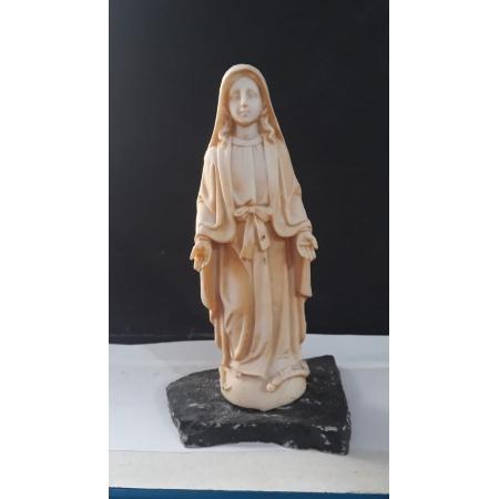 P177 - N. Sra. das Graças 14cm Resina Branca - NSGBP
