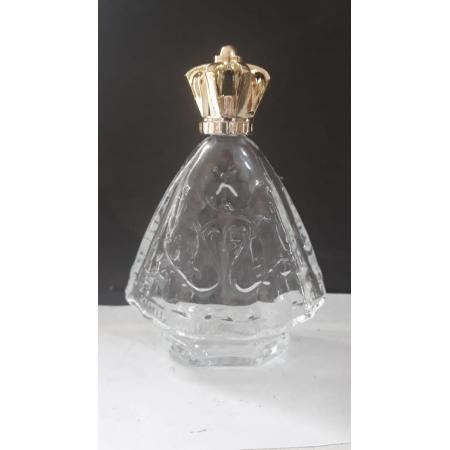 P201 - Vidro p/ Agua Benta Corpo Nossa Senhora Aparecida 11cm 60ml Transparente