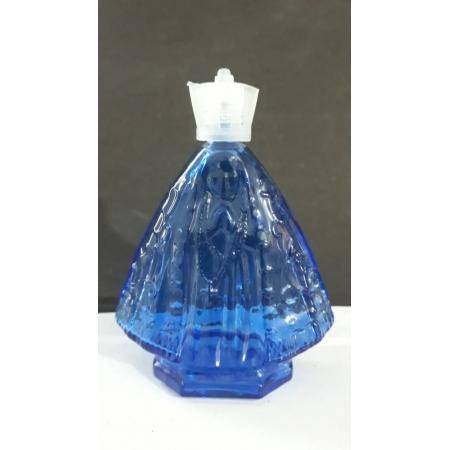 P202 - Vidro p/ Agua Benta Corpo Nossa Senhora Aparecida 11cm 60ml Azul