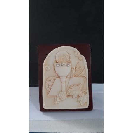 P58 - Eucaristia 10cm Resina Pedestal