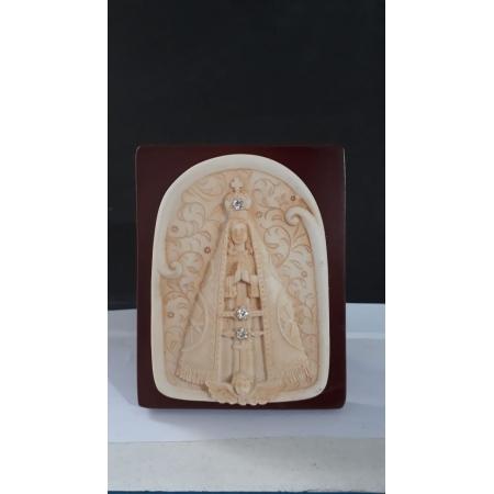 P61 - Nossa Senhora Aparecida 10cm Resina Pedestal