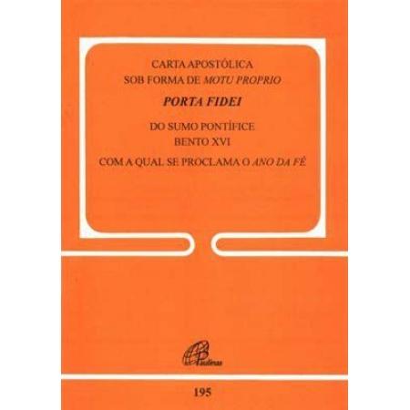 Porta Fidei 195 - Carta Apostolica