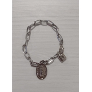 PUL93 - Cadeia p/ Consagração Nossa Senhora de Guadalupe 22cm Elo 12mm (Pulseira)