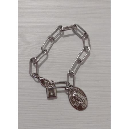 PUL94 - Cadeia p/ Consagração Nossa Senhora das Dores 22cm Elo 22mm (Pulseira)