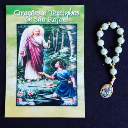 TR11 - Orações e Tercinhos de São Rafael c/ Dezena Perola 6mm