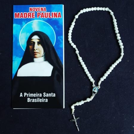 TR39 - Novena Madre Paulina Terço 5mm c/ Oração