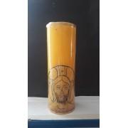 VL07 - Vela Altar Amarela Face de Cristo 70mmX205mm