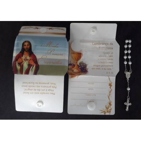 WE123 - Lembrança Minha Primeira Eucaristia c/ Dezena