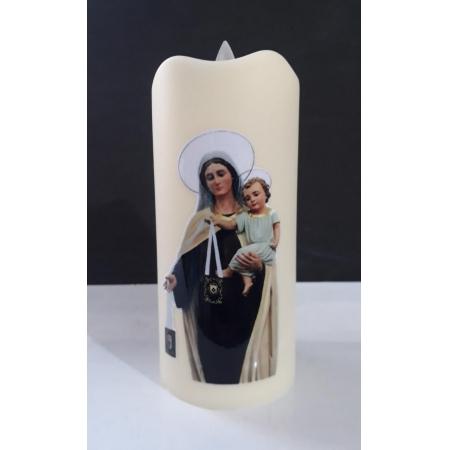 WE187 - Vela Artificial 11cm Nossa Senhora do Carmo