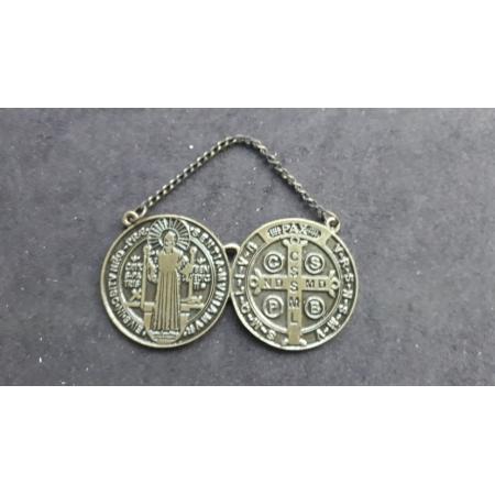 WE45 - Medalhão Porta São Bento 40mm Ouro Velho