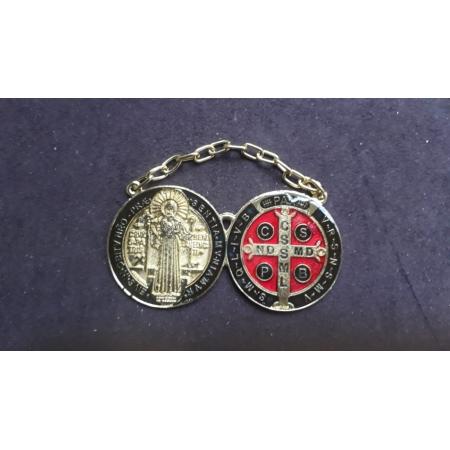 WE87 - Medalhão Porta São Bento 40mm Dourado