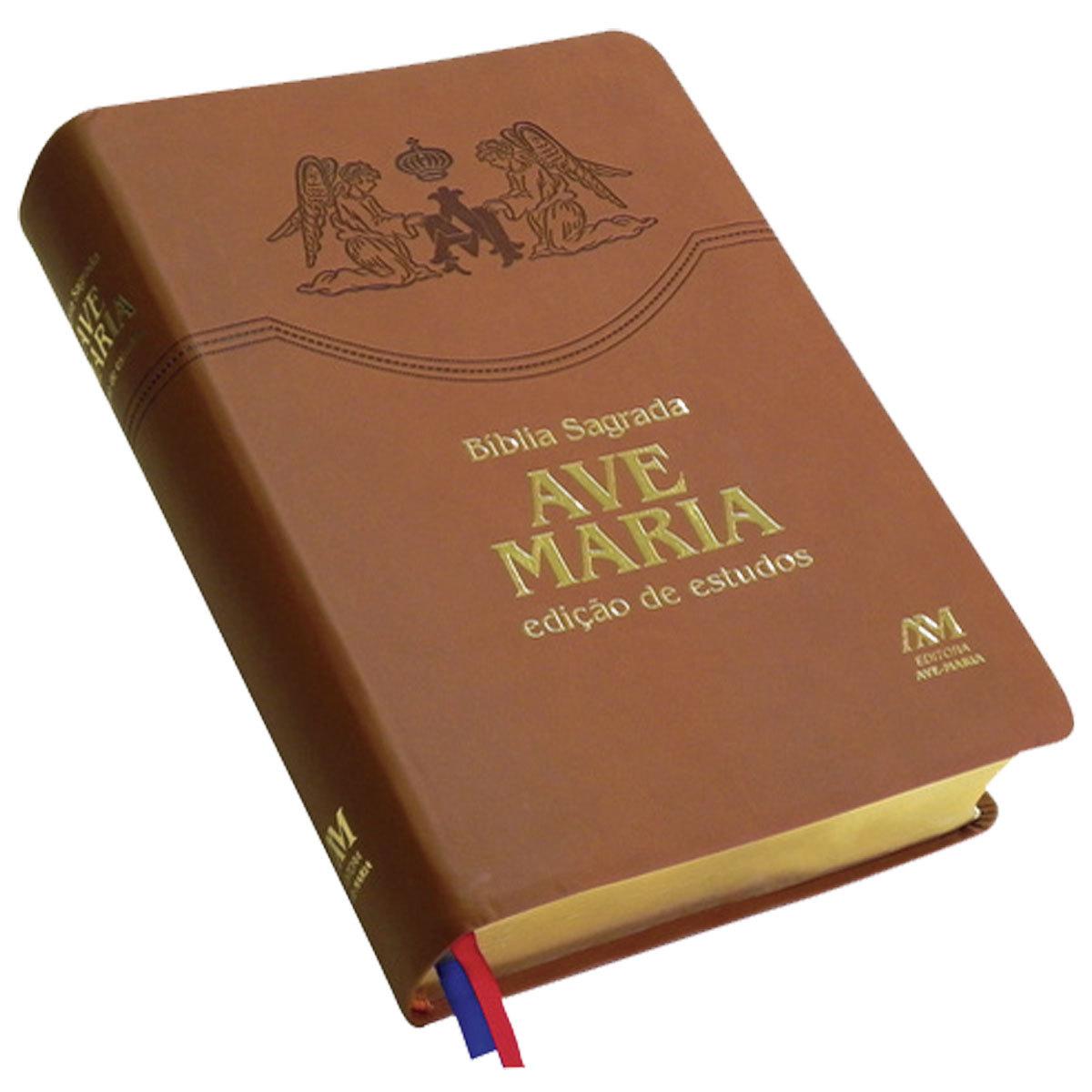 Bíblia Sagrada Ave Maria Edição Estudos  - VindVedShop - Distribuidora Catolica