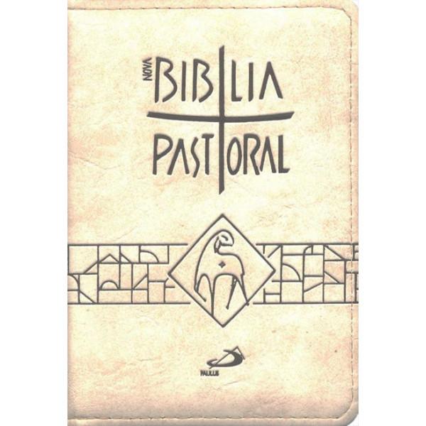 Biblia Sagrada Nova Ed. Pastoral Bolso Ziper Bege  - VindVedShop - Distribuidora Catolica