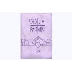 Biblia Sagrada Nova Ed. Pastoral Bolso Ziper Lilas  - VindVedShop - Distribuidora Catolica
