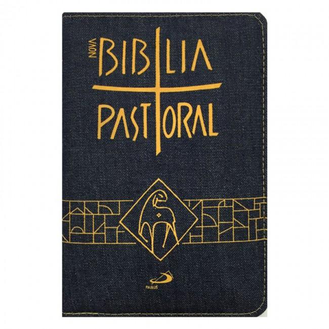 Biblia Sagrada Nova Ed. Pastoral Media Ziper Jeans  - VindVedShop - Distribuidora Catolica