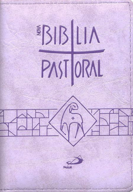 Biblia Sagrada Nova Ed. Pastoral Media Ziper Lilas  - VindVedShop - Distribuidora Catolica