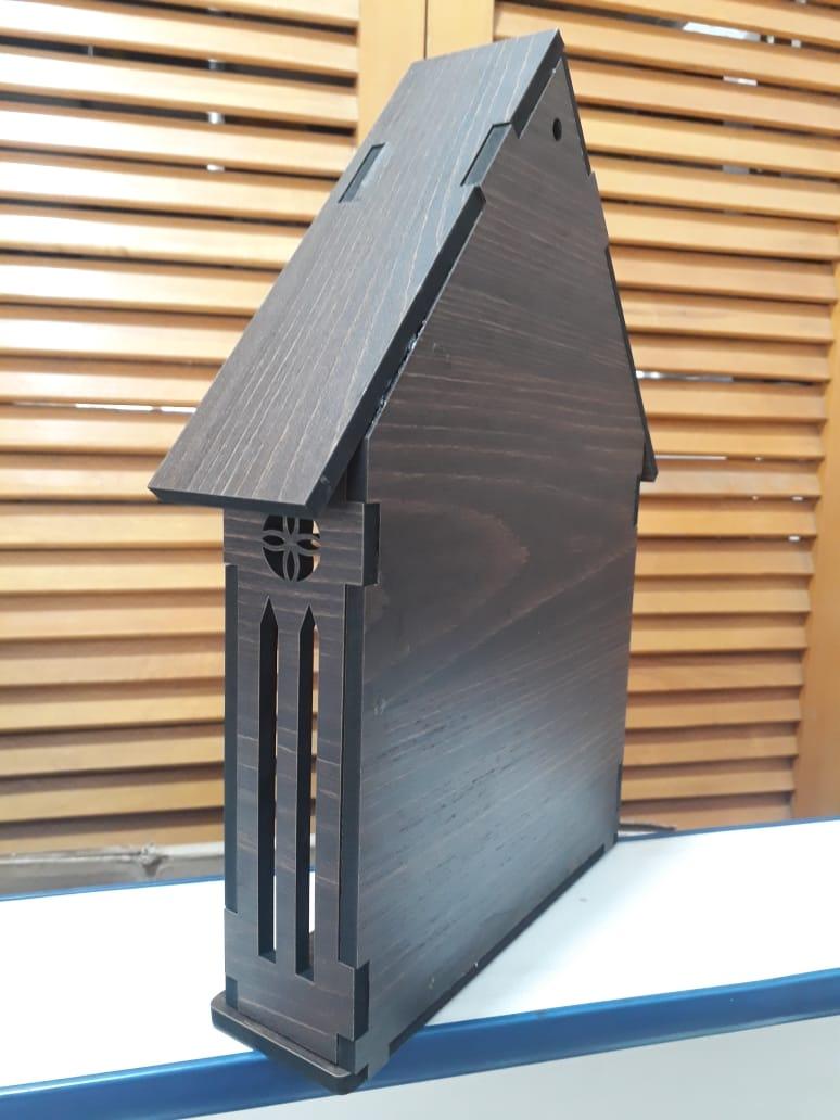 CT10 - Capela Madeira 30cmX24cmX6mm  - VindVedShop - Distribuidora Catolica