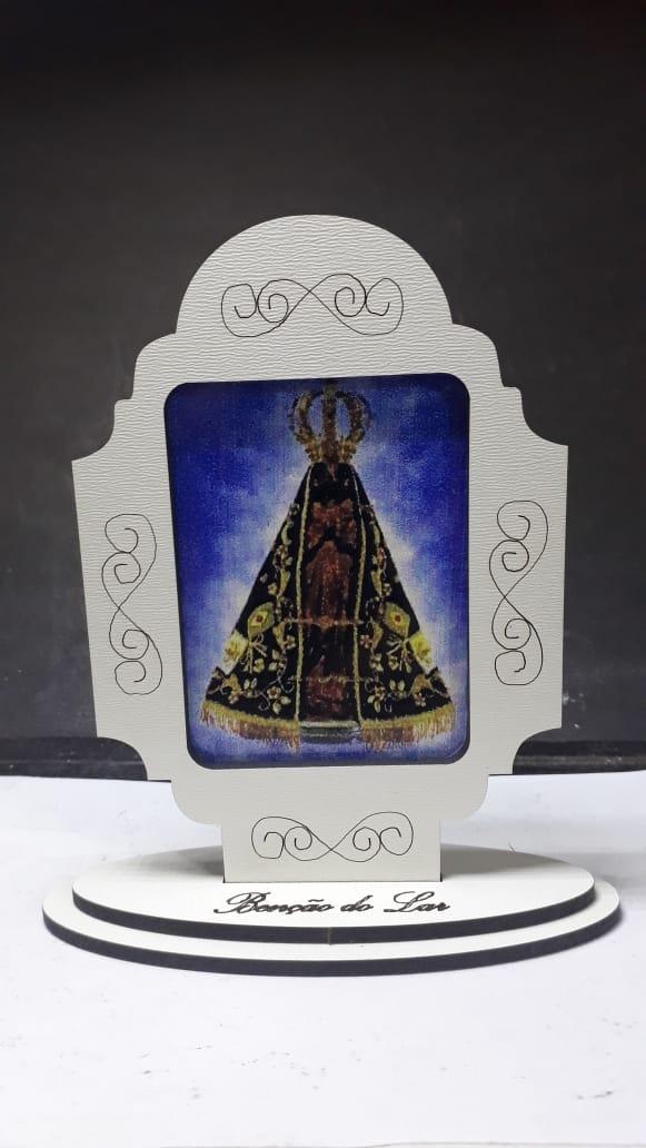 CT18 - Capela Madeira Bênção do Lar Nossa Senhora Aparecida 10cm  - VindVedShop - Distribuidora Catolica