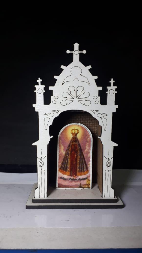 CT20 - Oratorio Castelo N. Sra. Aparecida 11cmX6cmX4cm  - VindVedShop - Distribuidora Catolica