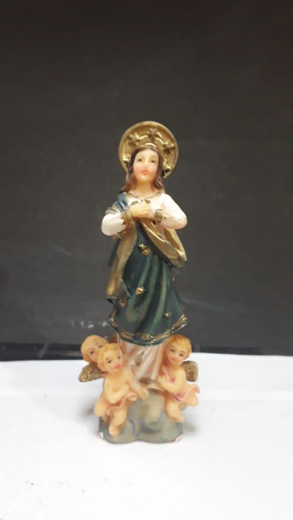 IB390 - Imaculada Conceição 08cm Resina  - VindVedShop - Distribuidora Catolica