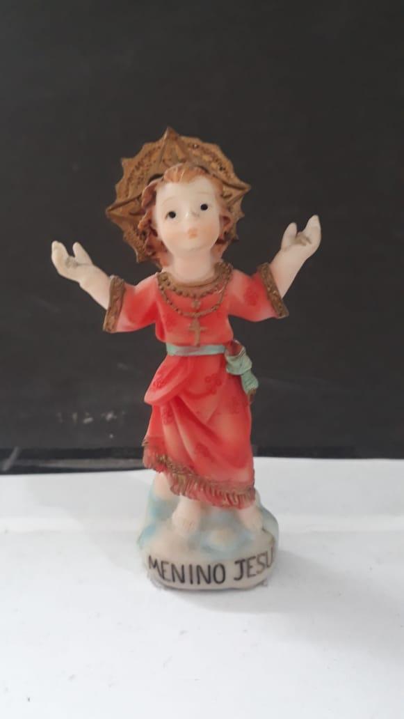 IB810 - Menino Jesus 08cm Resina  - VindVedShop - Distribuidora Catolica