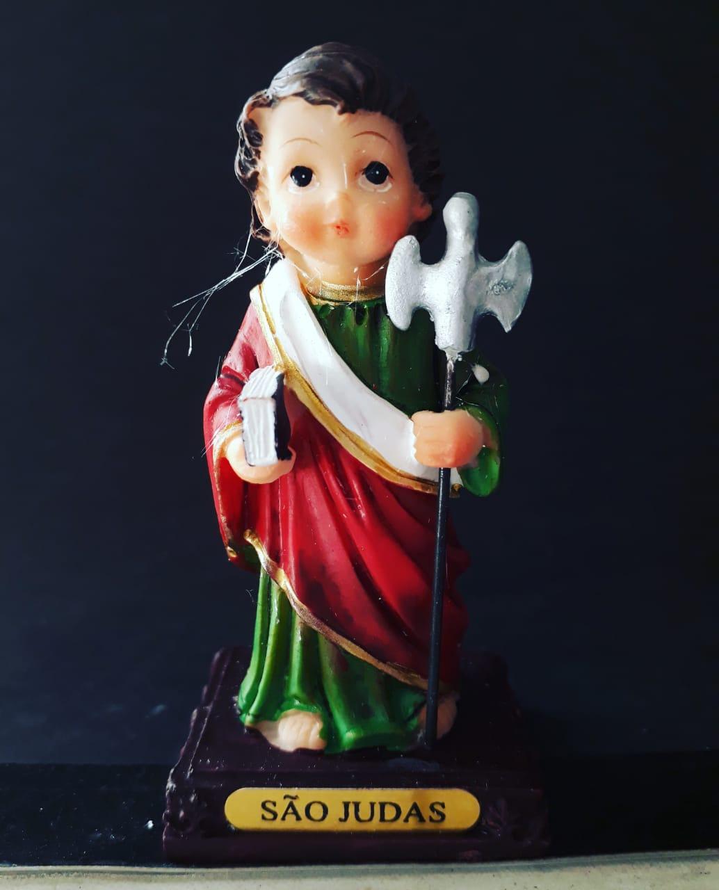 IC461 - São Judas Tadeu 11cm Criança Resina  - VindVedShop - Distribuidora Catolica
