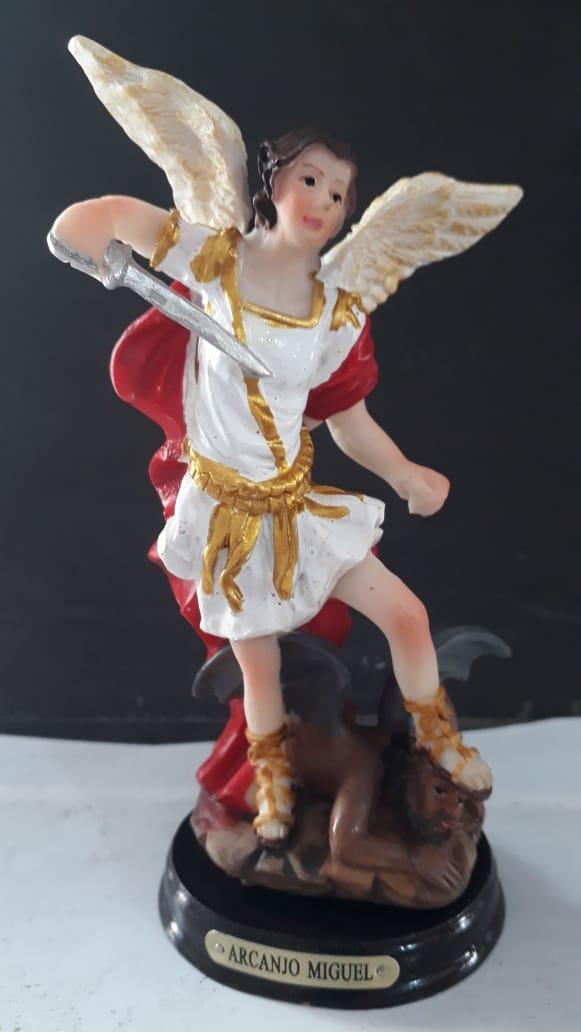 ID123 - São Miguel Arcanjo 14cm Resina  - VindVedShop - Distribuidora Catolica