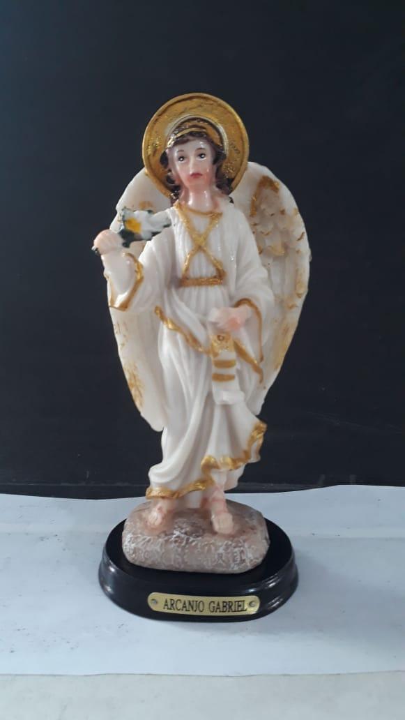 ID143 - São Gabriel Arcanjo 14cm Resina  - VindVedShop - Distribuidora Catolica
